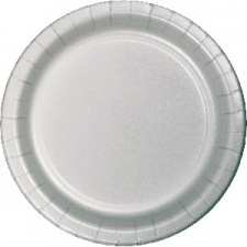 SOLID COLOUR SILVER PLATES 7inch