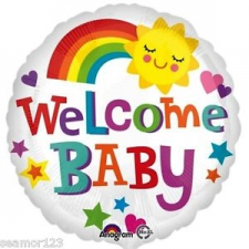 18 INCH FOIL WELCOME BABY RAIN