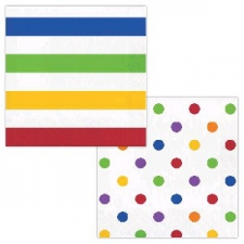 DOTS AND STRIPES MULTI SERVIETTES LUNCHEON