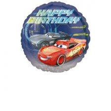 18 INCH CARS BALLOON HAPPY BIRTHDAY