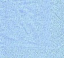 PLAIN SERVIETTES BERMUDA BLUE 20s