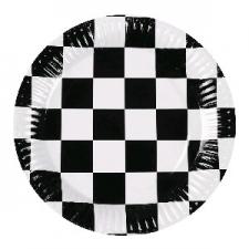 BLACK AND WHITE PLATES 23cm