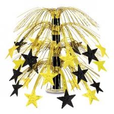 STAR CASCADE CENTERPIECE BLACK GOLD