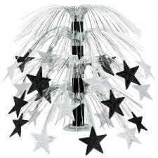 STAR CASCADE CENTERPIECE BLACK SILVER