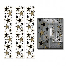 PARTY PANELS STARS GOLD 3S 12INCHX 6FOOT