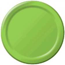 SOLID COLOUR FRESH LIME PLATES 7 INCH