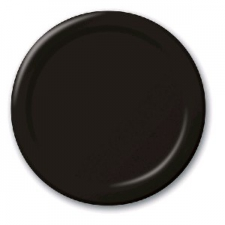 SOLID COLOUR BLACK VELVET PLATES 7 INCH
