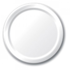 SOLID COLOUR WHITE PLATES 7 INCH