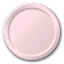 SOLID COLOUR CLASSIC PINK PLATES 7 INCH