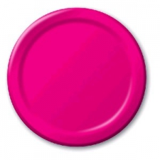 SOLID COLOUR HOT MAGENTA PLATES 7 INCH