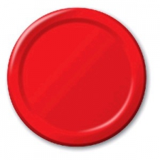SOLID COLOUR CLASSIC RED PLATES 7inch