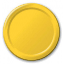 SOLID COLOUR SCHOOL BUS YELLOW PLATES 9