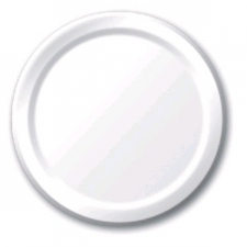 SOLID COLOUR WHITE PLATES 9