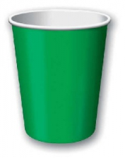 SOLID COLOUR EMERALD GREEN CUPS