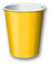 SOLID COLOUR SCHOOL BUS YELLOW CUPS