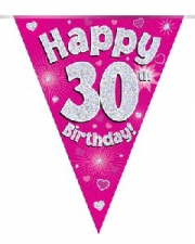 BUNTING PINK 30TH