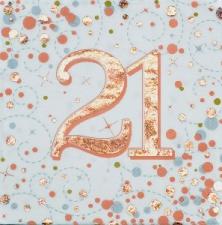 SPARKLING FIZZ ROSE GOLD SERVIETTES 21st 16s