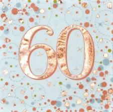 SPARKLING FIZZ ROSE GOLD SERVIETTES 60th 16s