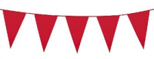 BUNTING 30CM RED