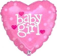 18 INCH FOIL BABY GIRL HEART