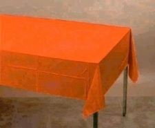 PLAIN SUNKISSED ORANGE CLOTHS PLASTIC 137cm x 274c