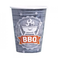 BBQ PARTY CUPS 250ml 8s