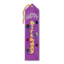 AWARD RIBBON HAPPY BIRTHDAY