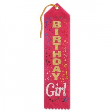 AWARD RIBBON BIRTHDAY GIRL