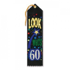 AWARD RIBBON LOOK WHOS 60