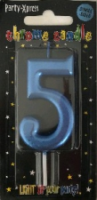 CANDLES CHROME BLUE NUMBER 5