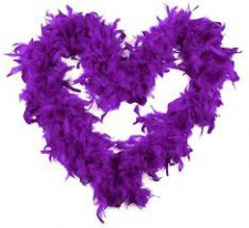 FEATHER BOA PURPLE DARK