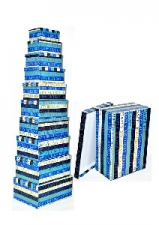 GIFT BOXES 10S BLUE WITH GOLD LETTERS