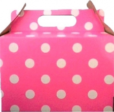 PARTY BOXES POLKA DOT BRIGHT PINK 8S