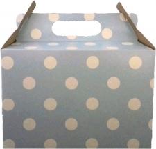 PARTY BOXES POLKA DOT LIGHT BLUE 8S