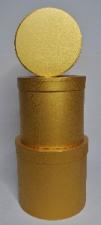 GIFT BOX METALLIC ROUND GOLD