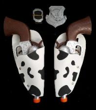 WESTERN GUN X2 COW BLACK