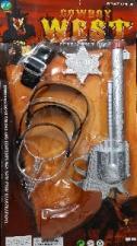 WESTERN GUN REVOLVER & SPURS
