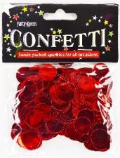 BALLOON CONFETTI FOIL RED