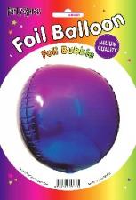BALLOON 34CM FOIL PURPLE TO BLUE